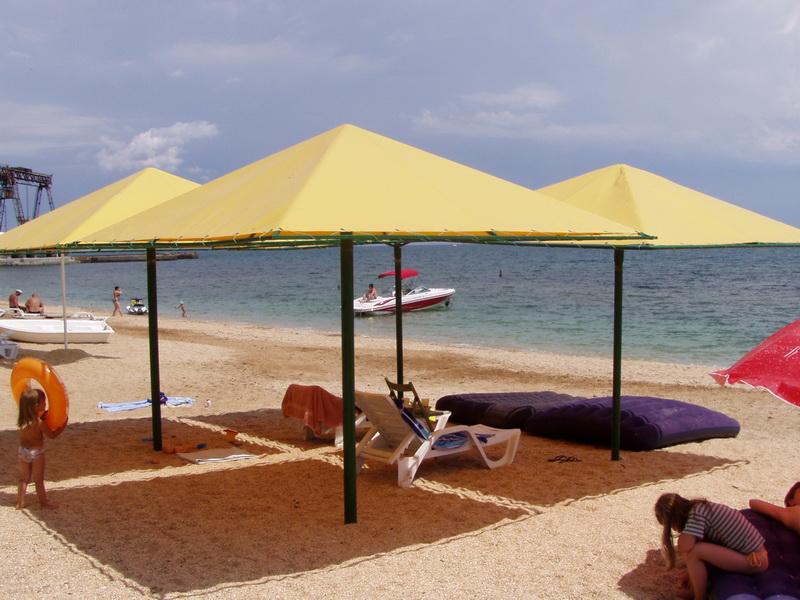 Пляж отеля Орхидея в Феодосии